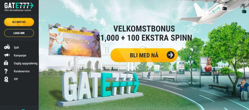 Gate777 Casino Hjemmeside