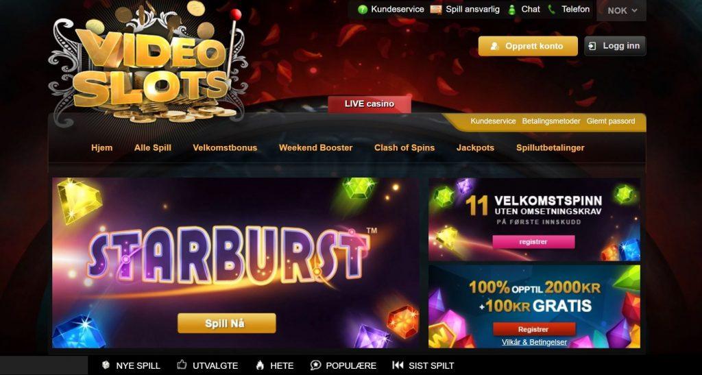Videoslots Casino Hjemmeside 2019