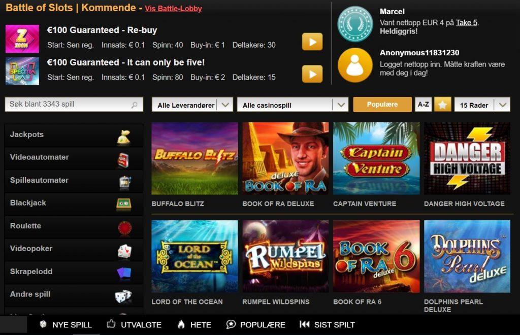 Videoslots Casino Spill 2019